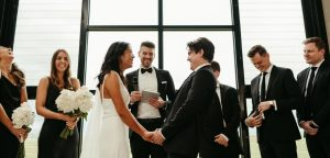 Pete the Celebrant weds couple
