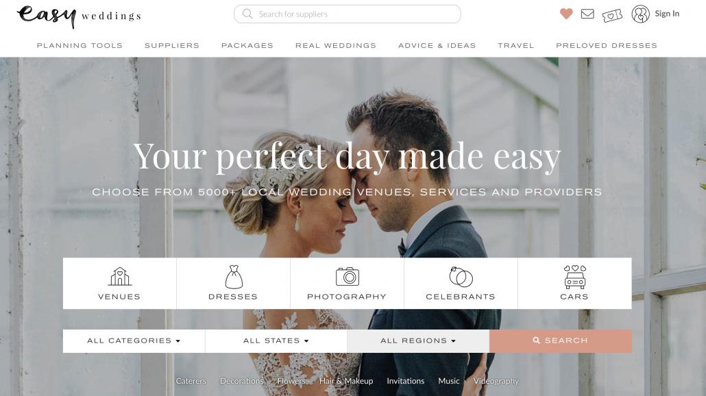 Easy Weddings Website